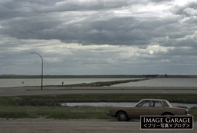 カナダ・サスカチュワン州のリード湖のフリー画像(無料写真素材)