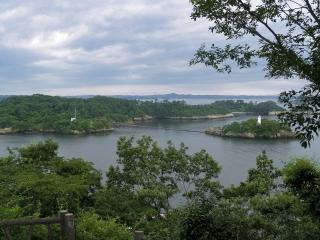 多聞山から眺めた松島