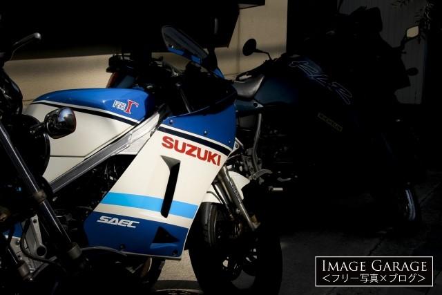 スズキのレーサーレプリカ RG400Γ・RG500Γのフリー画像(無料写真素材)