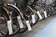 横浜市営の駐輪場の後払い札