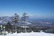 パルコールつま恋スキーリゾートから眺める冬の山々