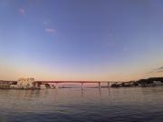 三崎港から眺めた城ヶ島大橋
