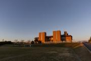 庄和排水機場・龍Q館とサッカー場
