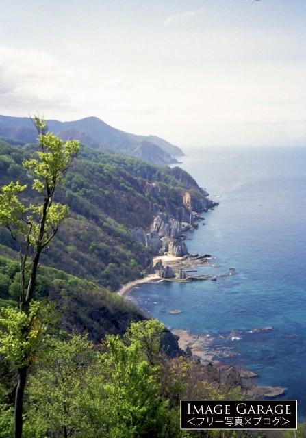 展望所から眺めた仏ヶ浦のフリー画像(無料写真素材)