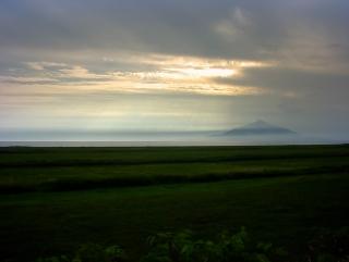 道道106から見た利尻富士