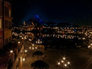 ホテルミラコスタから眺めるファンタジーな夜景