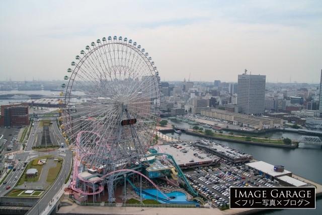 再開発中(2005年当時)の横浜みなとみらい地区のフリー画像(無料写真素材)
