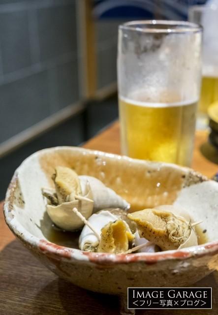 バイ貝の煮物のフリー写真素材