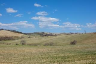 東北山間部の牧場風景