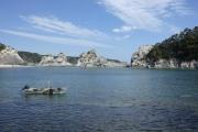 浄土ヶ浜と漁船