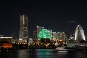大桟橋から眺めた横浜みなとみらいの夜景
