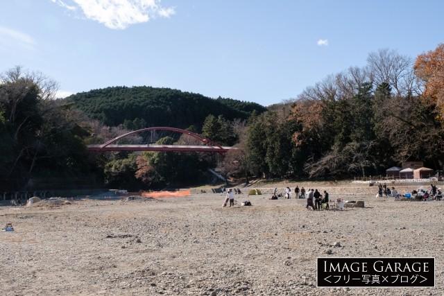飯能河原のフリー写真素材