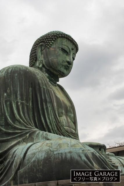 鎌倉の大仏のフリー写真素材