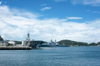 ヴェルニー公園から見た軍艦