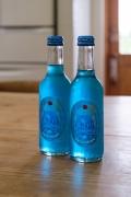 青い富士山クリームソーダのボトル