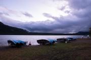 西湖の湖畔風景
