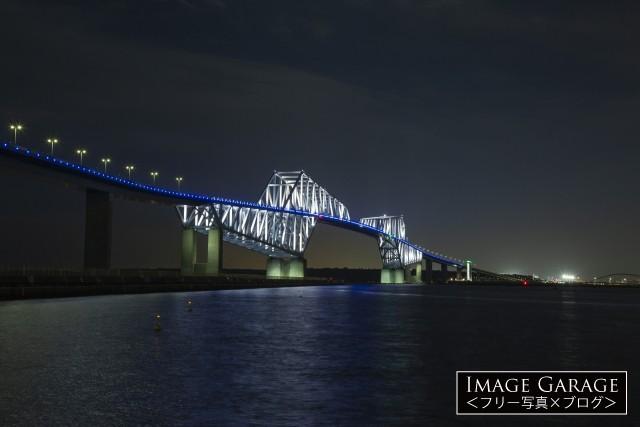 東京ゲートブリッジ(引きぎみ) のフリー画像(無料)
