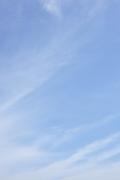 柔らかいトーンの爽やかな青空(縦位置)