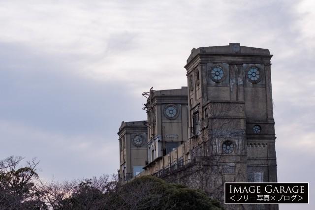 城のような旧根岸競馬場一等馬見所のフリー画像(無料写真素材)