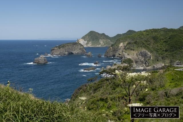 奥石廊崎・ユウスゲ公園からの眺めのフリー画像(無料写真素材)