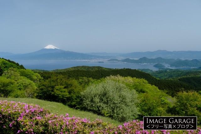 だるま山高原レストハウスからの富士山のフリー写真素材(無料画像)