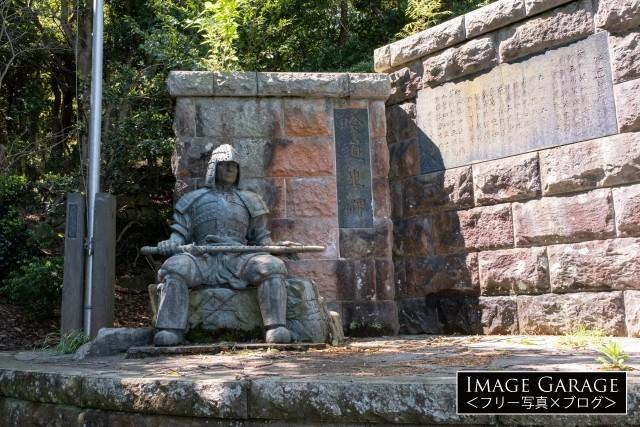 吟道之碑の武人像のフリー画像(無料写真素材)