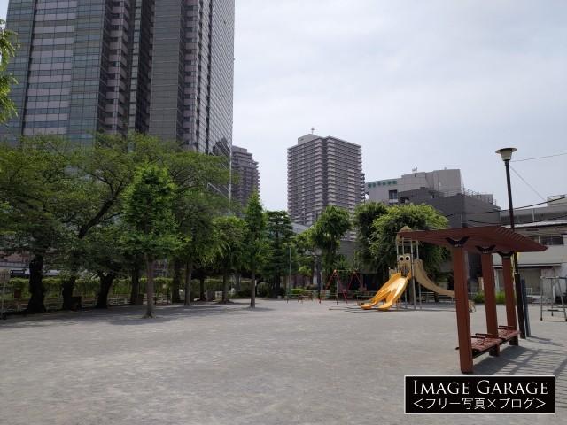 恵比寿南一公園(イカ公園)のフリー画像(無料写真素材)
